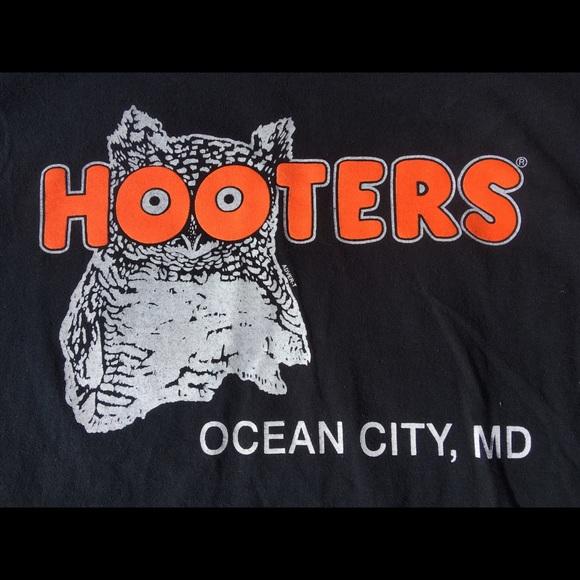 2ff6fba5d Gildan Shirts | Mens Hooters Black Tshirt Ocean City Maryland L ...